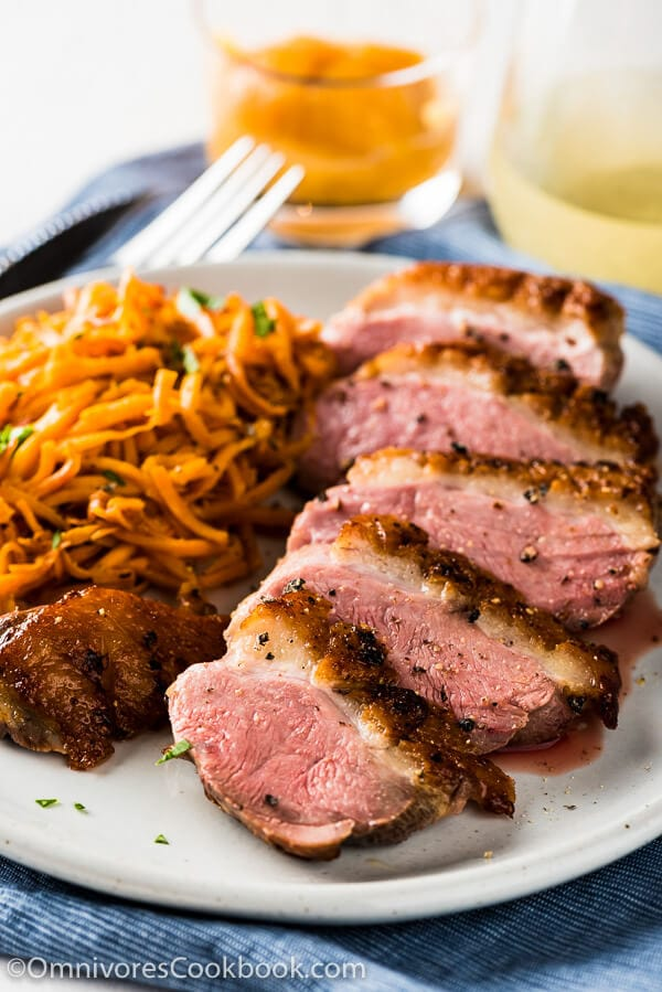 Pan Seared Duck Breast With Persimmon Grapefruit Sauce With This Combination You Can Create A