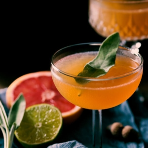 Sage Brown Derby (Whiskey and Grapefruit Cocktail) - A refreshing and boozy winter drink that is perfect for daily enjoyment or a gathering.