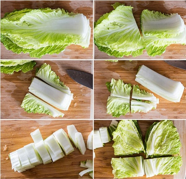 How to Cut Napa Cabbage | omnivorescookbook.com