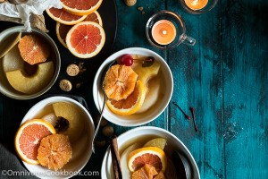 Oolong Fruit Compote - It combines Eastern and Western elements to create this perfect dessert that will be enjoyed by people from both sides of the world! | omnivorescookbook.com
