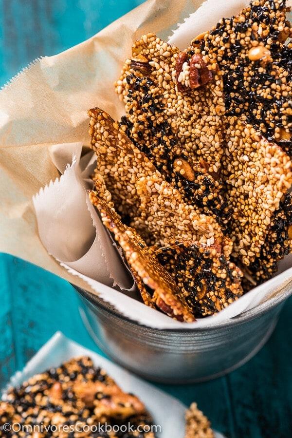 Quinoa Sesame Brittle 芝麻糖 Omnivore S Cookbook