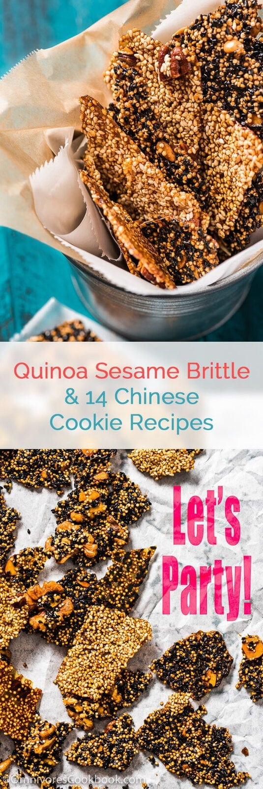 Quinoa Sesame Brittle - Only 150 calories per serving, full of nutrition, and just 10 minutes active cooking time. | omnivorescookbook.com