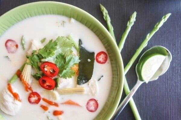 Quinoa Asparagus Tom Kha Gai | www.vitamin-sunshine.com
