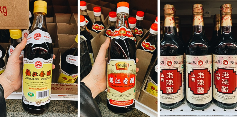 List of Chinese dark vinegar I use