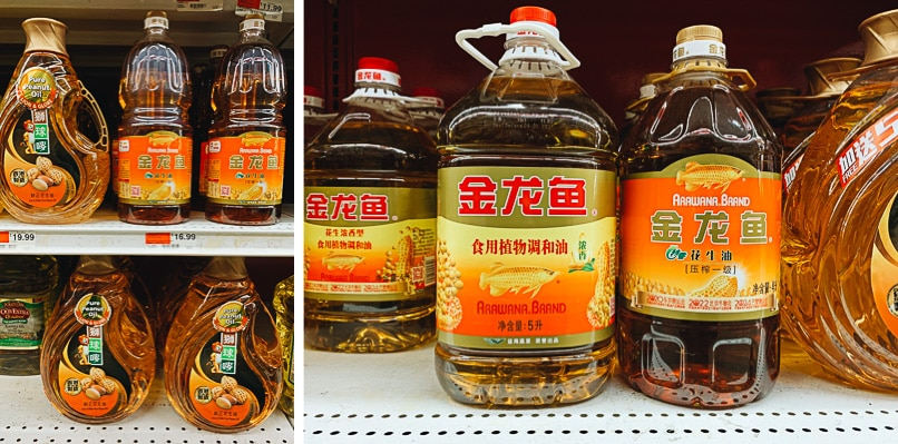 100% pure peanut oil for Chinese cooking