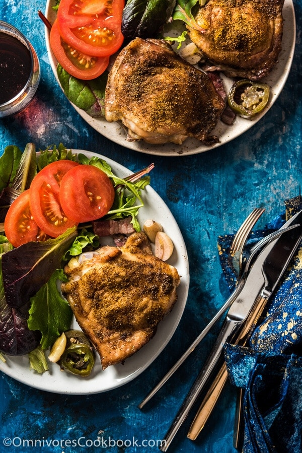 Chicken à la Benson - The easiest way to cook any cut of chicken to create a fork-tender texture with crispy skin | omnivorescookbook.com