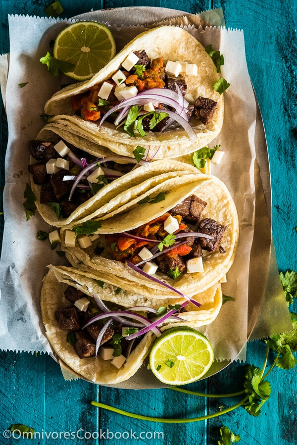 How to Cook Beef Tongue + Tacos de Lengua Recipe + Chinese Beef Tongue Salad Recipe | omnivorescookbook.com