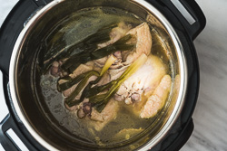 Pressure Cooker Chicken Soup Cooking Process
