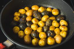 Crispy Pressure Cooker Potatoes Cooking Process