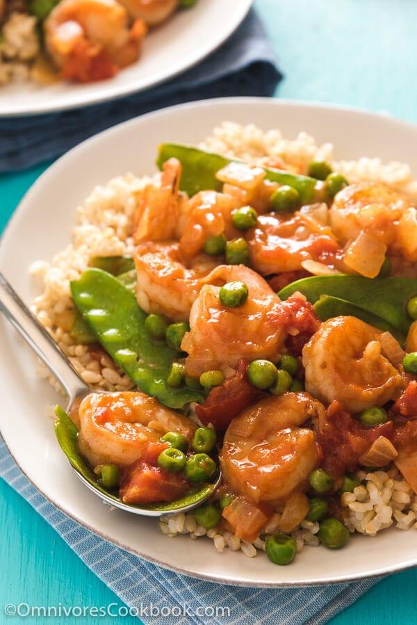 Tomato Shrimp Stir Fry Ǖ�茄炒虾仁 Omnivore S Cookbook