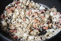 Olive fried rice Cooking Process