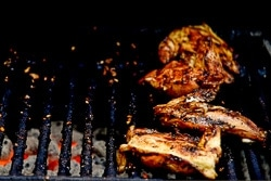 Grilled Chicken Breast with Black Bean Sauce Cooking Process