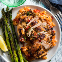 Grilled Chicken Breast with Black Bean Sauce - Perfectly cooked chicken with a crispy and flavorful crust, juicy and tender meat, and a heavenly smoky aroma.