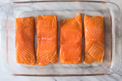 Honey Soy Sauce Glazed Salmon Cooking Process