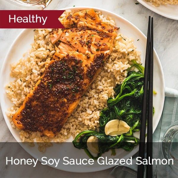 Honey Soy Sauce Glazed Salmon
