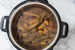Pressure Cooker Bone Broth Cooking Process