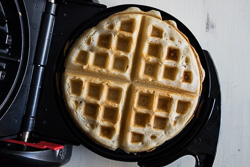 Coconut Waffles Cooking Process