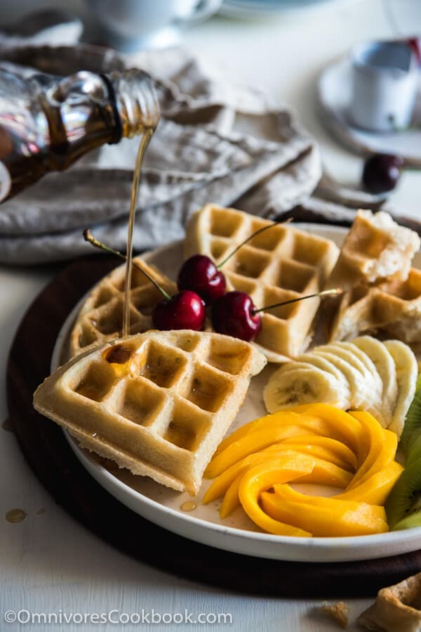Coconut Waffles - Extra crunchy and crispy on the surface, moist and tender inside. This recipe offers the easiest way to make vegan, gluten free, and dairy free waffles and guarantees the best flavor.
