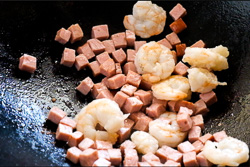 Shrimp Fried Rice Cooking Process