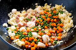 Shrimp Fried Rice Cooking Process
