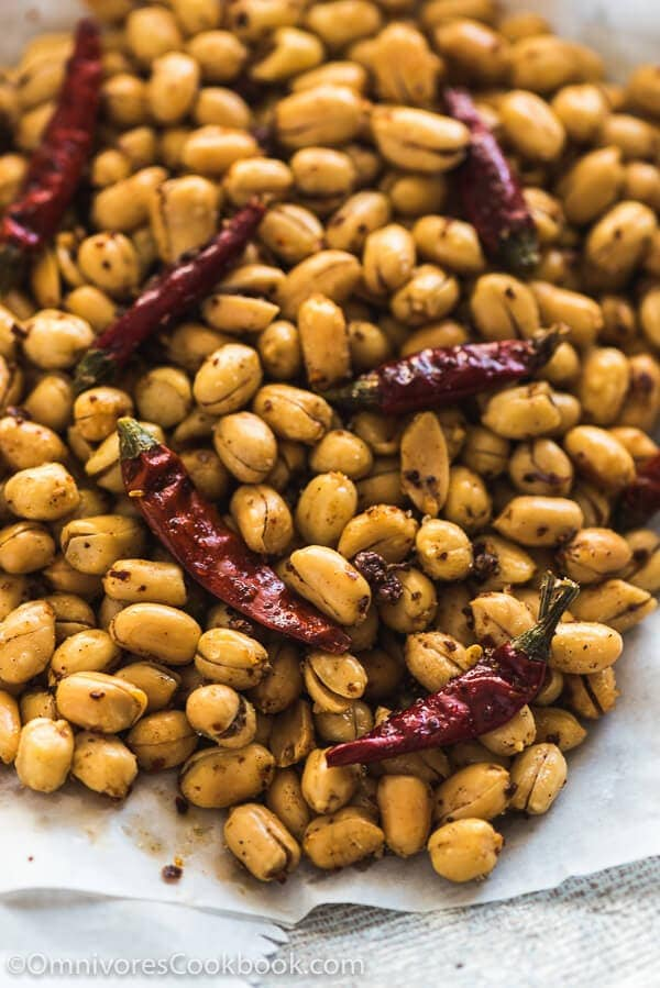 Szechuan Spicy Peanuts (黄飞鸿花生, Huang Fei Hong Spicy Peanuts) - Crunchy, salty, slightly sweet, and fiercely hot, with the citrusy tingle of numbingness. You won't able to stop once you pop the first peanut into your mouth.