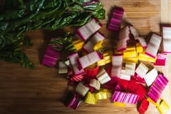 Easy Swiss Chard Stir Fry Cooking Process