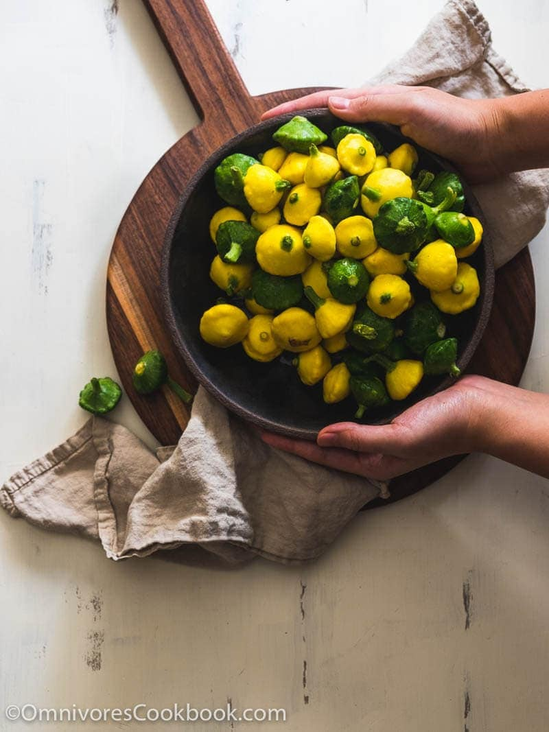 Roasted Baby Squash - A quick summer side dish that is full of nutrition, low in calories, and can be used to replace carbs for dinner.