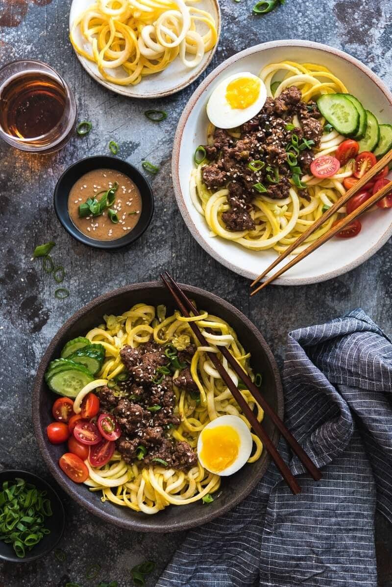 Sesame Beef Squash Noodle Bowl Omnivore S Cookbook