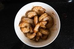 Shrimp Salad Bowl with Mango Salsa Cooking Process