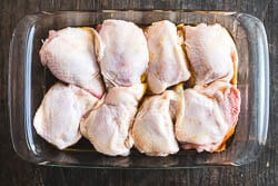 5-Ingredient Baked Chicken Thigh Cooking Process