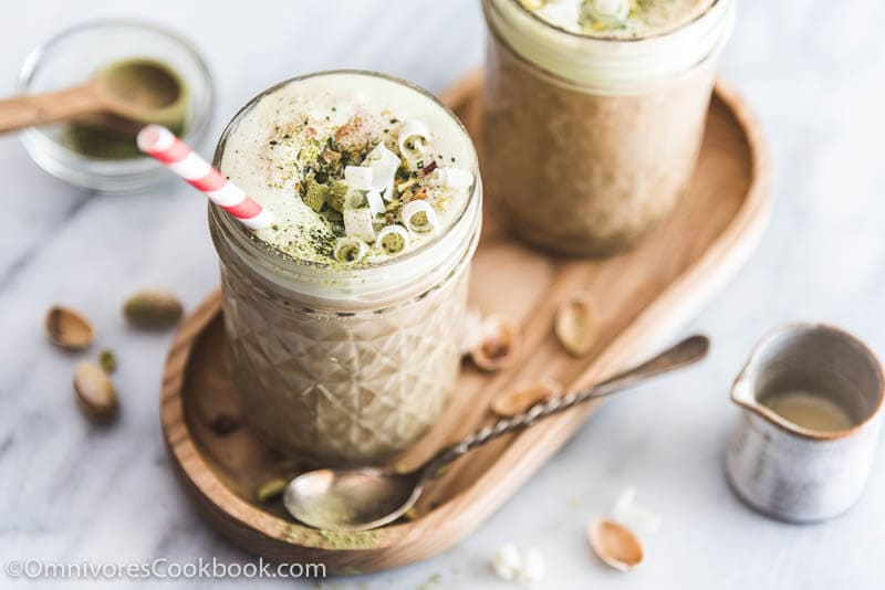 Espresso Matcha Ice Cream Float - The Asian way to enjoy a decadent dessert. It contains just three ingredients and takes just five minutes to get ready!