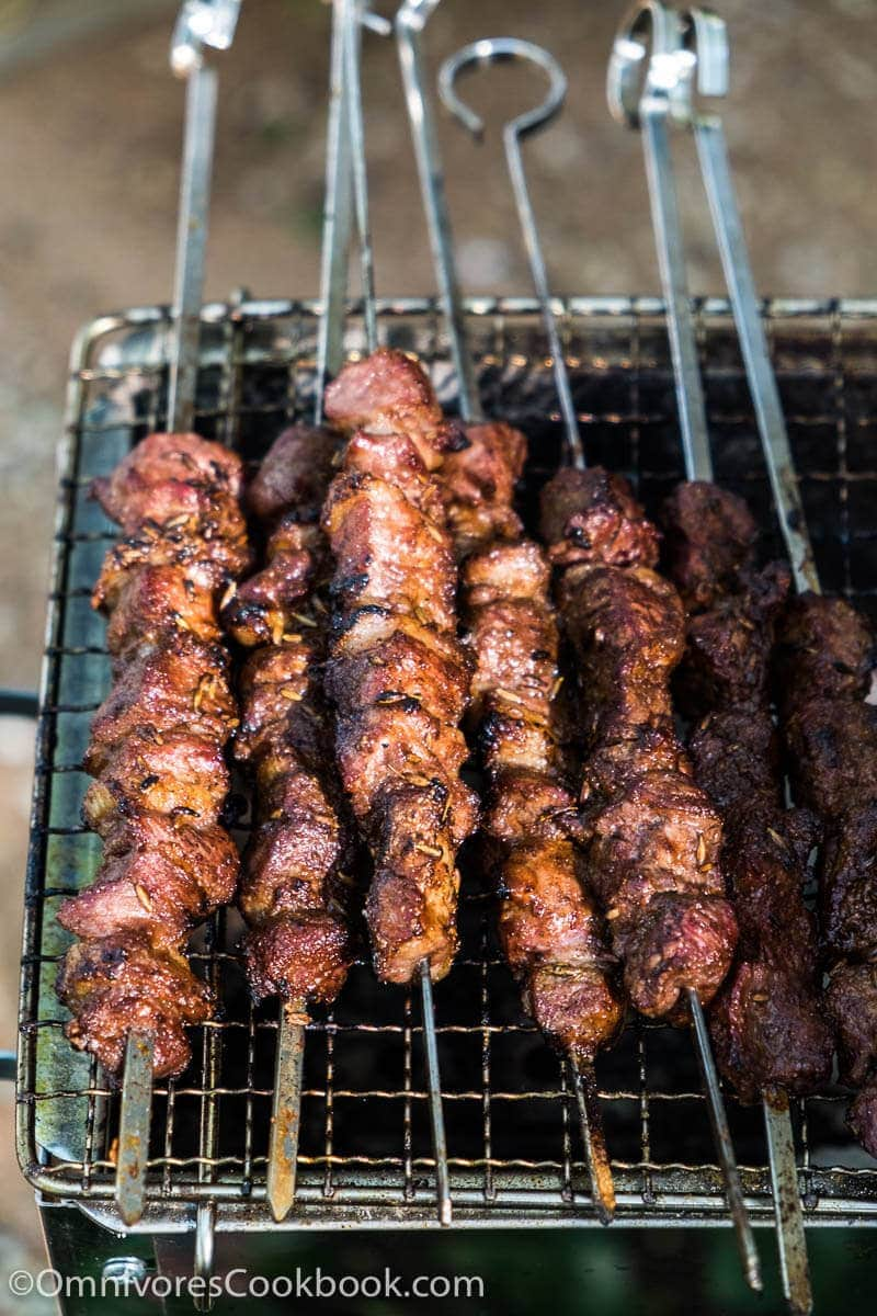 Xinjiang lamb skewers chuar omnivores cookbook xinjiang lamb skewer chuar the real deal recipe forumfinder Choice Image