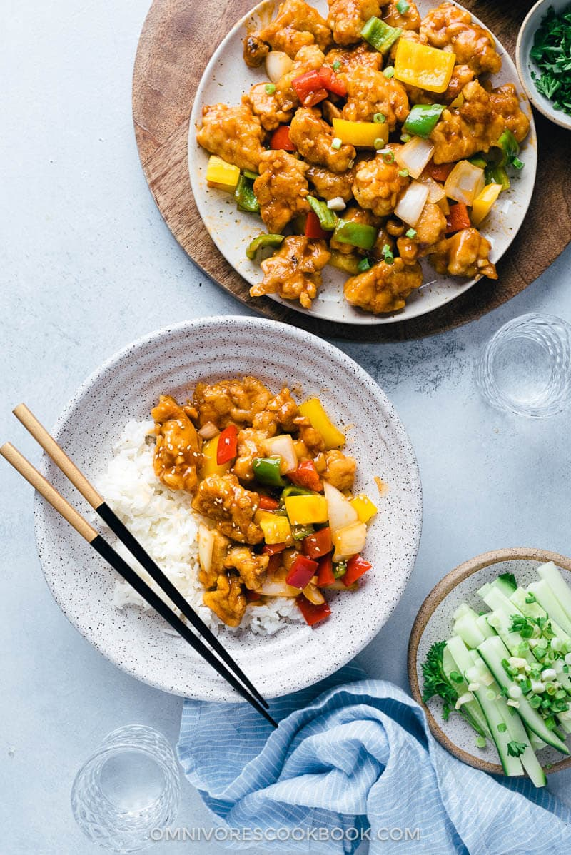 Sweet and Sour Chicken (Without Deep-Frying) | Omnivore's Cookbook