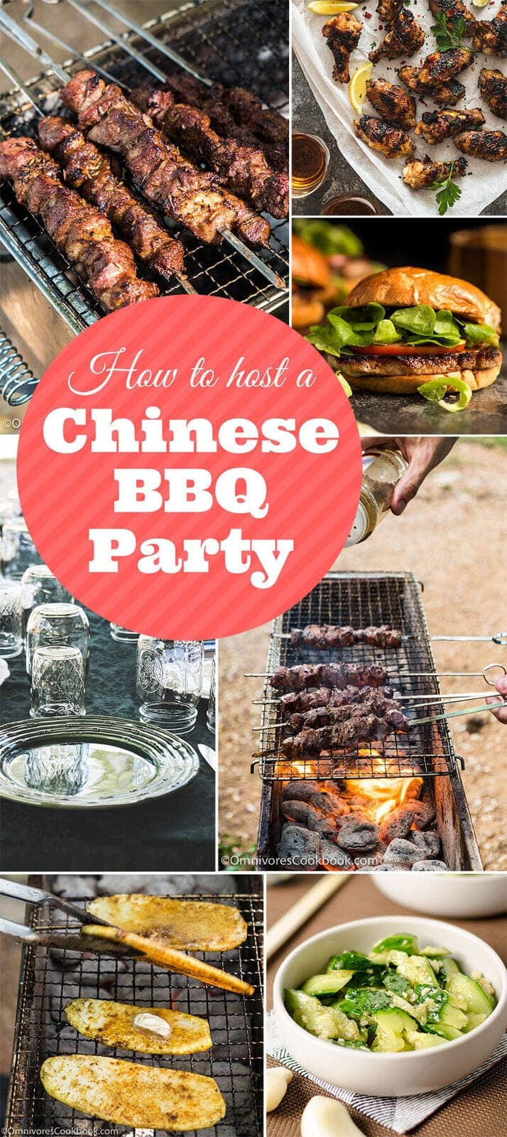 The ultimate guide to hosting a Chinese grilling and BBQ party in your backyard, with an introduction to a Chinese grill, tools, menu suggestions, workflow, and everything else!