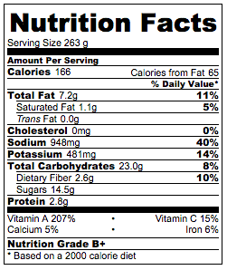 Real Deal Sesame Noodles Nutrition Facts