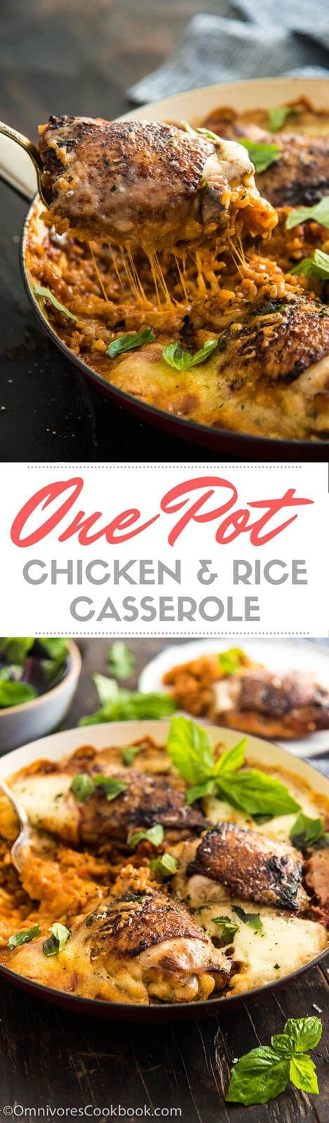Chicken and Rice Casserole is the ultimate comfort food that both kids and adults love. Learn how to make a healthier and faster version in one pot!