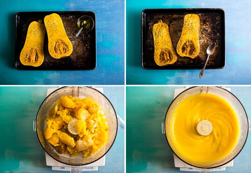 5-Ingredient Butternut Squash Soup Cooking Process