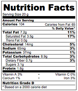 Almond Crescent Cookies Nutrition Facts