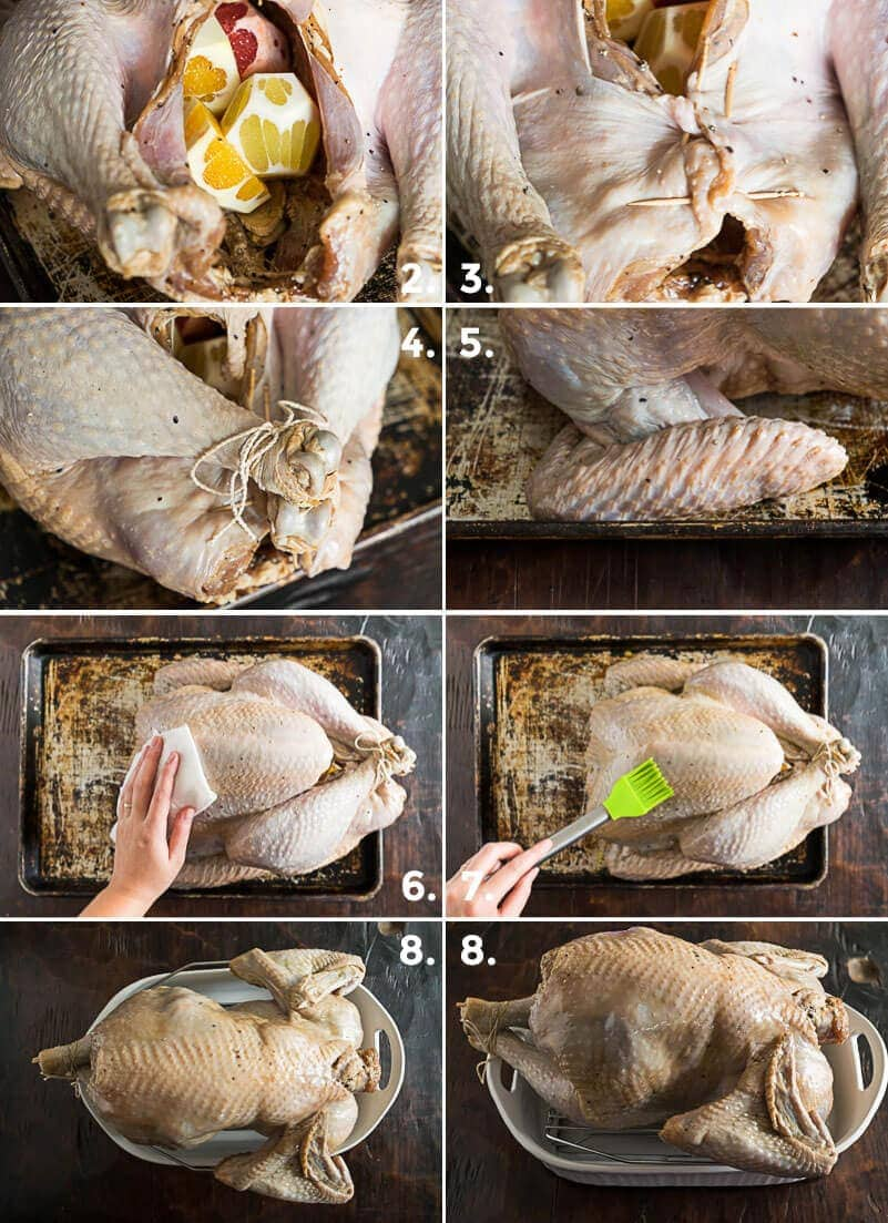 Chinese Marinated Roast Turkey Cooking Process