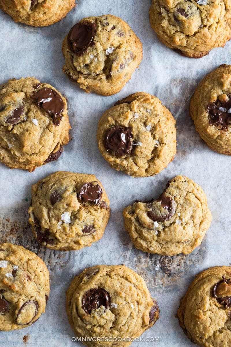 Heavenly, soft and thick cookies with melting chocolate chunks, a buttery texture, and a hidden savory umami that is even better than caramel and sea salt.