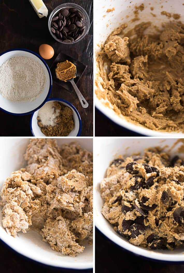 Miso Chocolate Chip Cookies Cooking Process