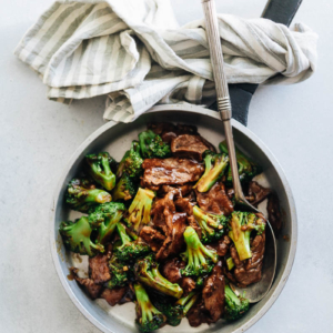 Chinese Beef and Broccoli (One-Pan Take-Out) - This takeout-style Chinese beef and broccoli dish is extra saucy and quick to prepare. The recipe does not require a wok and you can still get that authentic taste.