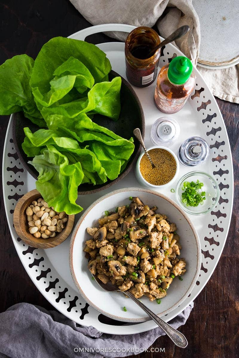 Easy Chicken Lettuce Wrap