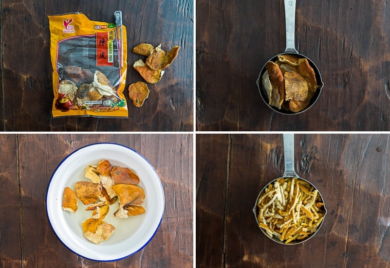 How to prepare dried tangerine peels