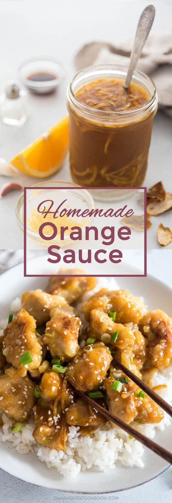 Not only you can use this orange sauce to make orange chicken or a quick stir fry, you can even make roasted vegetables with it! {gluten-free, vegan}