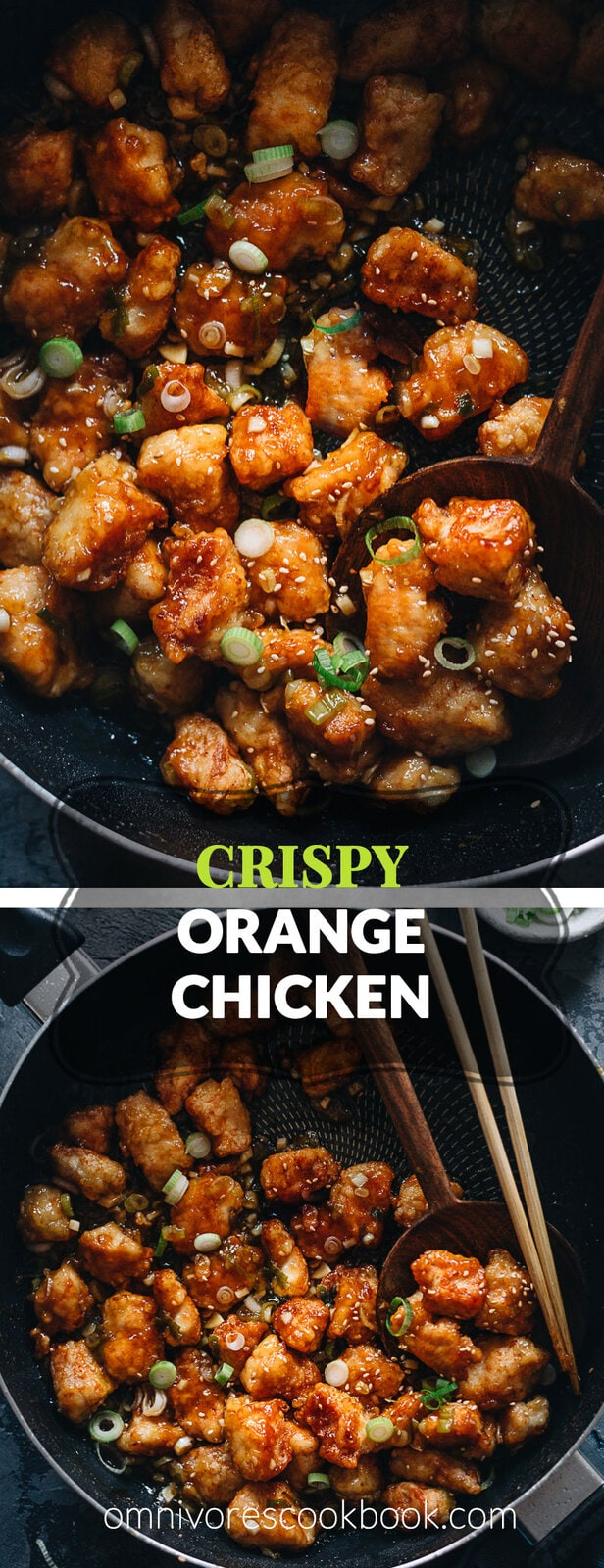 Chinese Orange Chicken (Crispy Chicken without Deep Frying) - This is the only recipe you need to make extra crispy chicken without deep-frying and a scrumptious orange sauce that's way better than takeout. {gluten-free}