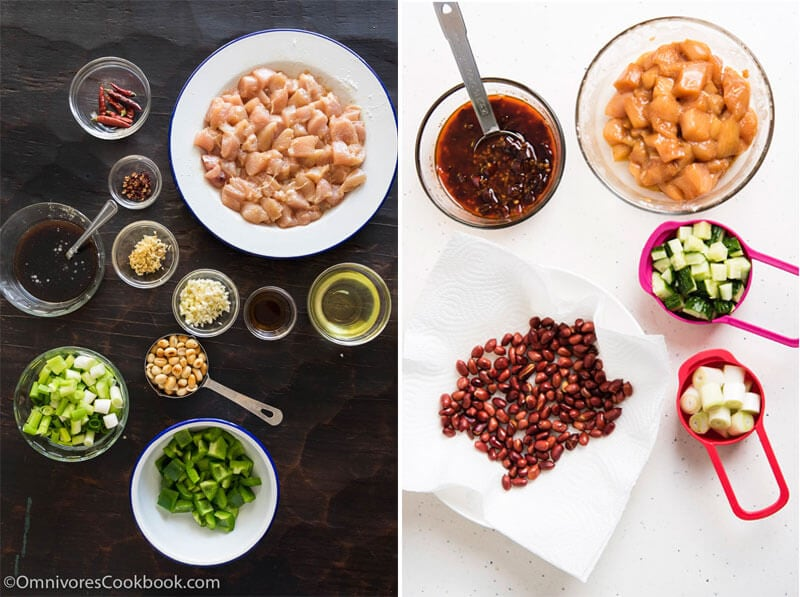 Kung Pao Chicken Mise En Place