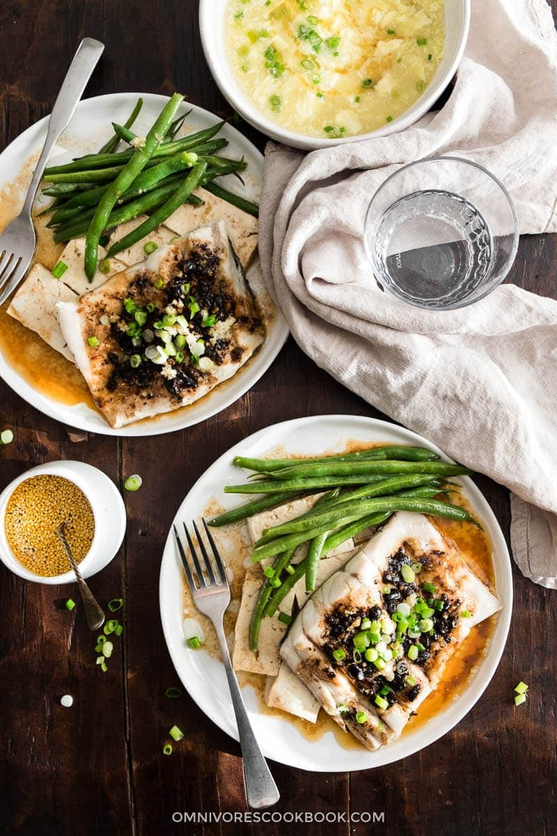 Steamed Fish With Black Bean Sauce Recipe — Dishmaps