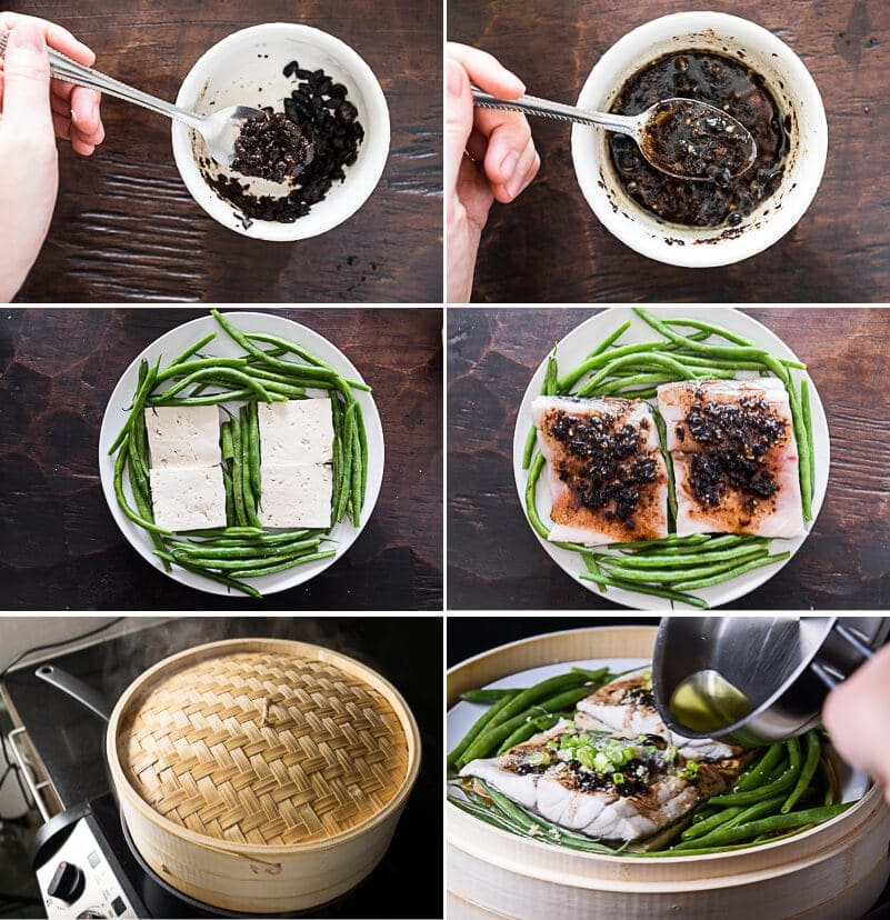Steamed Fish with Black Bean Sauce Cooking Process