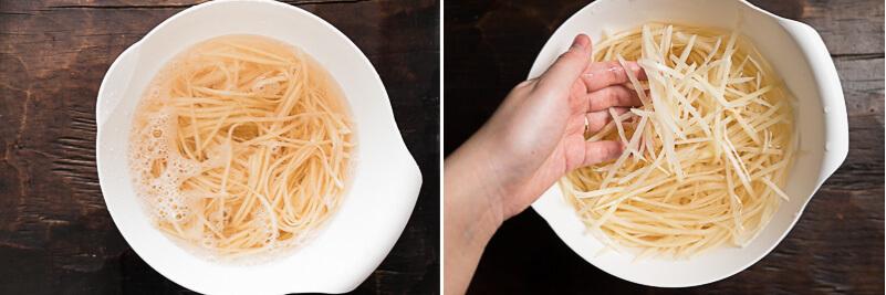 Shredded Potato Stir Fry Cooking Process
